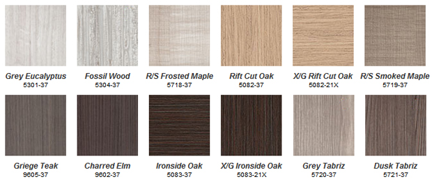 Greenlam Coastline mdf laminate cabinet door colours