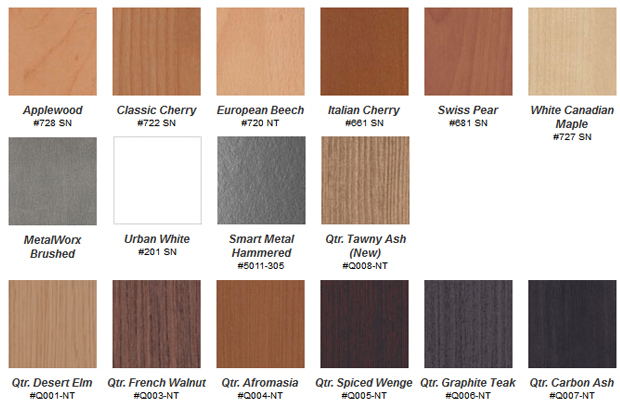 Habitat and Habitat Queue mdf laminate cabinet door colours