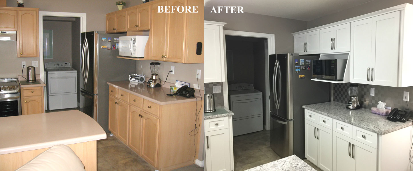 Before / After Kitchen Cabinet Refacing Gallery